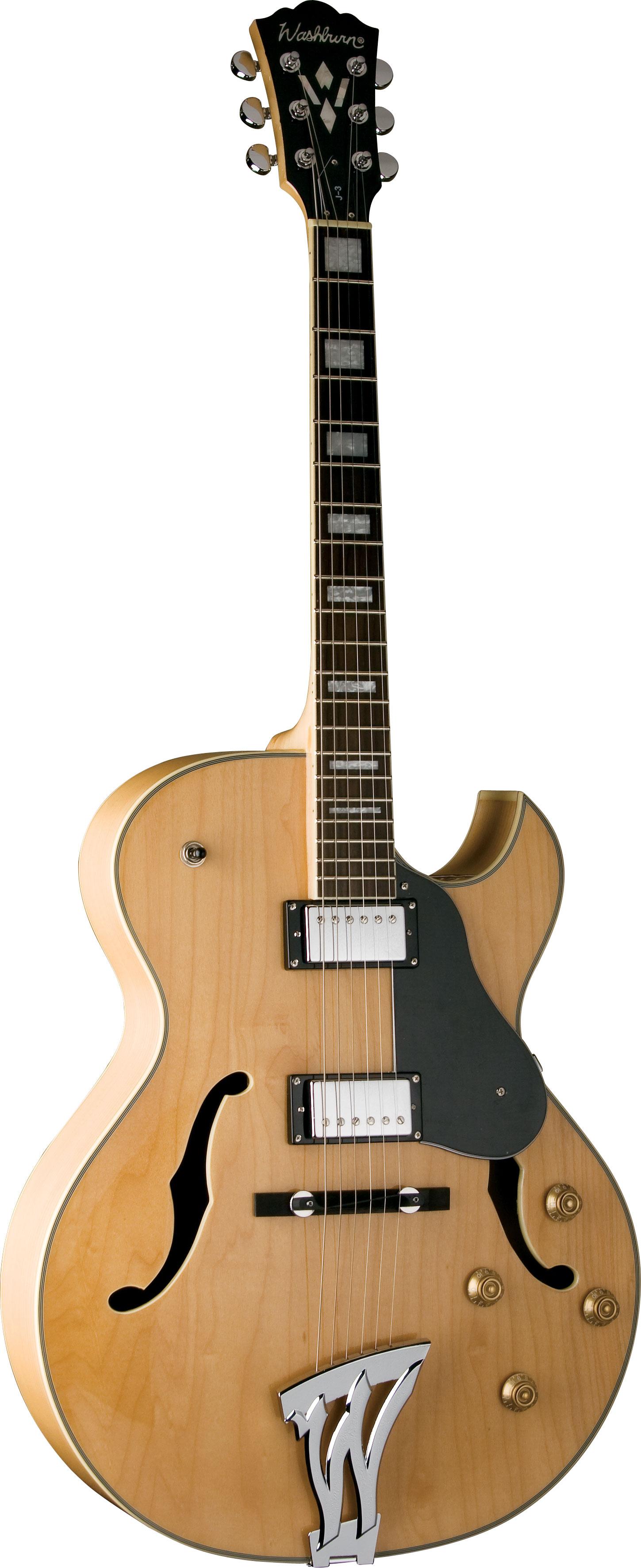 electric guitars washburn j3nk jazz electric guitar natural. Black Bedroom Furniture Sets. Home Design Ideas