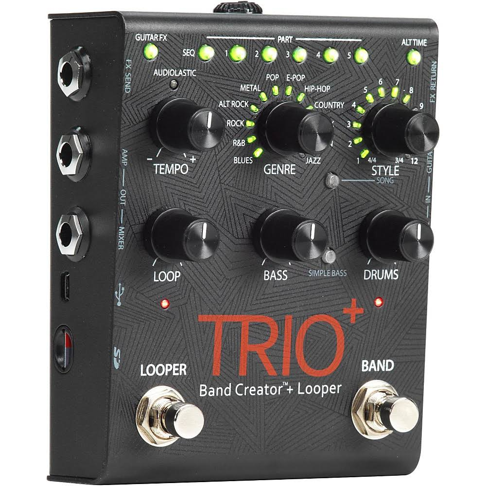 pedals effects digitech trio plus band creator and looper guitar effects pedal. Black Bedroom Furniture Sets. Home Design Ideas
