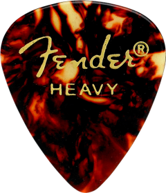 Fender 351 Shape Premium Celluloid Picks, Tortoise Shell, Heavy, 12-Pack