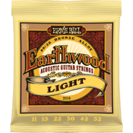 Ernie Ball 2004 Earthwood Light 80/20 Bronze Acoustic Set, 11-52