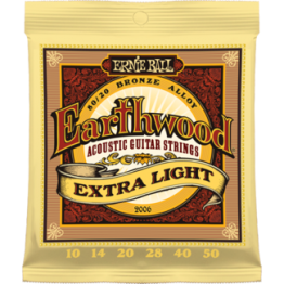Ernie Ball 2006 Earthwood Extra Light 80/20 Bronze Acoustic Set, 10-50