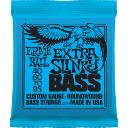 Ernie Ball 2835 Extra Slinky Roundwound Bass Strings, 40-95