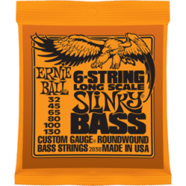 Ernie Ball 2838 Slinky Nickel Round Wound 6-String Bass, 32-130