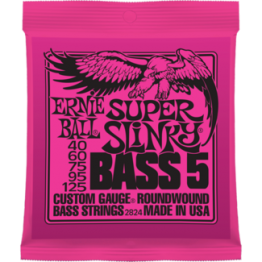 Ernie Ball 2824 Super Slinky 5-String Bass Strings, 40-125