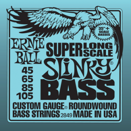 Ernie Ball 2849 Hybrid Slinky Bass Strings Super Long Scale, 45-105