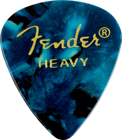 Fender 351 Shape Premium Celluloid Picks, Ocean Turquoise, Heavy, 12-Pack