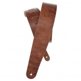 Planet Waves Blasted Leather Guitar Strap, Brown