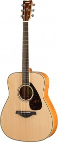 Yamaha FG840 Natural Folk Acoustic Guitar, Flame Maple