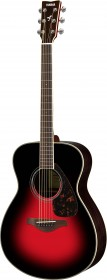 Yamaha FS830 DSR Natural Small Body Acoustic Guitar, Dusk Sun Red