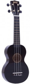 Mahalo MR1BK Rainbow Series Soprano Ukulele, Black