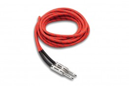 Hosa 3GT-18C3 Cloth Guitar Cable - Red/Green