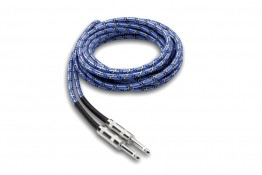 Hosa 3GT-18C1 Cloth Guitar Cable - Blue/White/Black