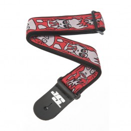 Planet Waves 50JS02 Joe Satriani Guitar Strap, Up in Flames