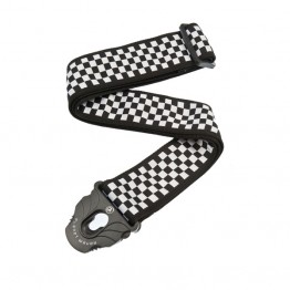 Planet Waves 50PLC02 Planet Lock Guitar Strap, Check Mate