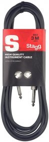 Stagg High Quality Instrument / Guitar Cable, 10 ft, Black