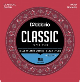 D'Addario EJ27H Student Nylon, Hard Tension Classical Strings