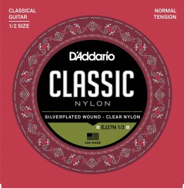 D'Addario EJ27N 1/2 Student Nylon Fractional, Normal Tension