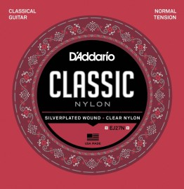 D'Addario EJ27N Student Nylon, Normal Tension Classical Strings