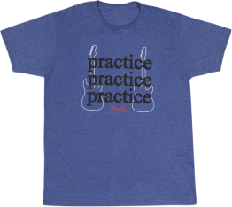 Fender Practice T-Shirt, Heather Blue Large