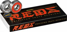 Bones Bearings 8mm Bones REDS Precision Skate Rated Skateboard Bearings, 8 Pack