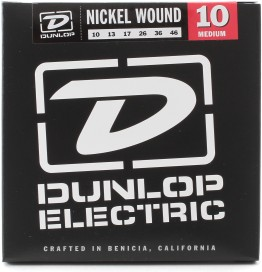 Dunlop DEN1046 Nickel Plated Steel Medium, 10-46