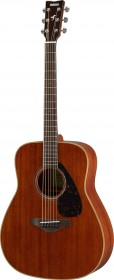Yamaha FG850 Natural Folk Acoustic Guitar, Mahogany