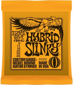 Ernie Ball 2222 Hybrid Slinky Electric Strings, 9-46