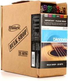 D'Addario EJ16-B25 Phosphor Bronze Light Acoustic Strings, 25 Sets