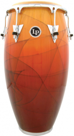 "LP Accents Eddie Montalvo Wood 11-3/4"" Conga/Chrome"