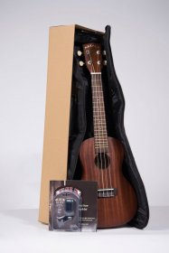 Makala MK-C Concert Ukulele w/ Tuner, Bag, and Instructions