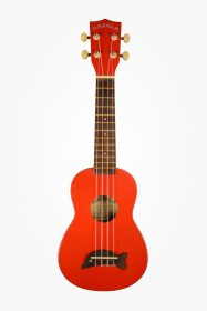 Makala MK-SD Soprano Dolphin Ukulele, Candy Apple Red Sparkle