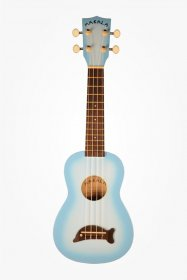 Makala MK-SD Soprano Dolphin Ukulele, Light Blue Burst