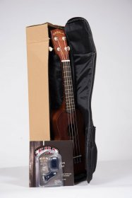 Makala MK-S Soprano Ukulele w/ Tuner, Bag, and Instructions