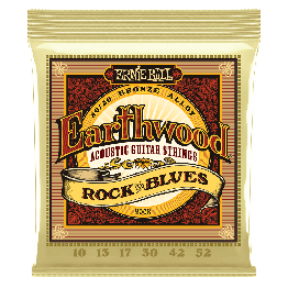 Ernie Ball Earthwood 2008 Rock & Blues w/Plain G 80/20 Bronze, 10-52