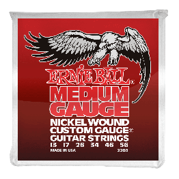 Ernie Ball 2204 Medium Nickel Wound Set with wound G, 13-56