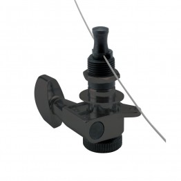 D'Addario PWAT-6R2 Auto-Trim Tuning Machines, 6 In-Line, Black