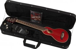 Washburn RO10TR Travel Guitar - Transparent Red