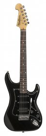 Washburn S2HMB Sonamaster Series Electric Guitar, Metallic Black, HSS