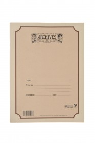 Archives Spiral-Bound Manuscript, Double 8 Stave, 64 pages, 11x13 in