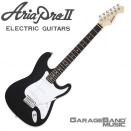 Aria Pro II STG-003 Electric Guitar, Black