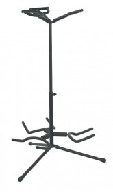 Tour Grade TGGS37 Deluxe Triple Guitar Stand, Black