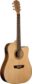 Washburn WD7SCE Harvest Series Acoustic-Electric Guitar - Natural