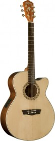 Washburn WG7SCE Harvest Series Acoustic-Electric Guitar - Natural