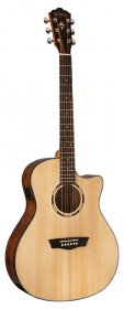 Washburn WLO10SCE-O-U Woodline Series Acoustic/Electric Guitar