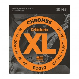 D'Addario ECG23 Chromes Flat Wound,Extra Light, 10-48