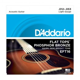 D'Addario EFT16 Flat Tops, Light, 12-53