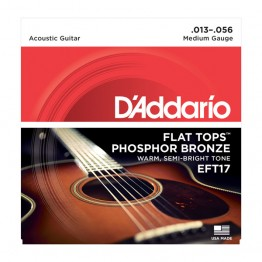 D'Addario EFT17 Flat Tops, Medium, 13-56