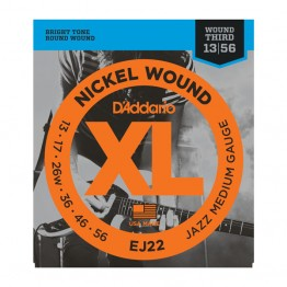 D'Addario EJ22 Nickel Wound, Jazz Medium, 13-56
