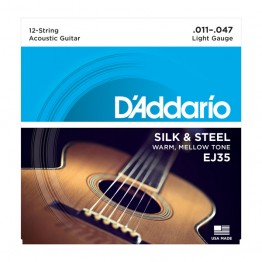 D'Addario EJ35 Silk & Steel 12-String Folk, 11-47
