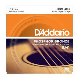 D'Addario EJ41 12-String Phosphor Bronze, Extra Light, 9-45